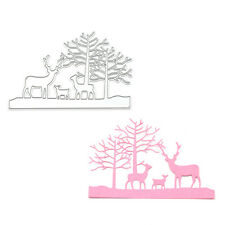 Cute Christmas Deer Cutting Dies DIY Scrapbooking Embossing Paper Cards Craft
