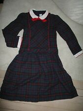 Vintage Classic  Florence Eiseman Plaid Dress drop waist  SZ 12