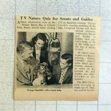1953 George Cansdale With Bush Baby Nature Quiz Gilwell Park Essex