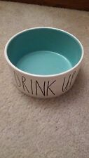 "Rae Dunn by Magenta Dog Bowl ""DRINK UP"" 6"" x 3"" Pet dish cat food drink water"