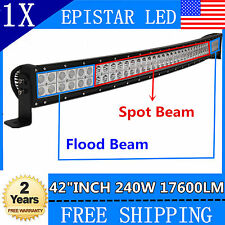 42inch 240W Led Work Light Bar Curved Offroad Ford Jeep Truck Boat ATV SUV 6000K