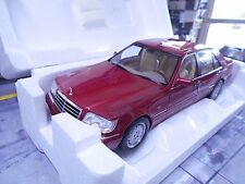 MERCEDES Benz w140 classe s s500 500 s red rouge met HQ 1997 NOREV NEUF 1:18