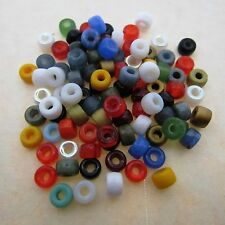 100 Glass Mini 6mm Crow Multi Color Opaque Beads High Quality Gorgeous Beads