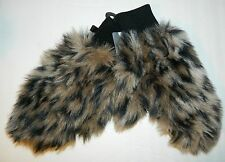 NWT HOT TOPIC Leopard Fur Gloves Mittens* ONE SIZE  New
