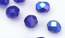 Cobalt AB Czech Glass Faceted Beads 8MM