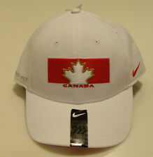 Team Canada 2014 Winter Olympics Hockey Dri Fit White Flex Fit Hat Cap OSFM