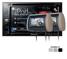 """Pioneer AVH-X2700BS DVD Receiver w/ Built in Bluetooth & TWO 7"""" Headrest Monitor"""