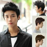 Fashion Men Handsome Short Hair Sexy Korean Boys Male Wig Full Wig Cosplay Party