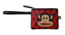 PAUL FRANK - JULIUS MONKEY POLKA DOT GLITTER COIN PURSE IN RED/BLACK