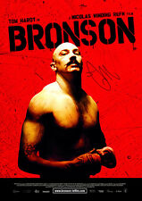 BRONSON Tom Hardy SIGNED AUTOGRAPH MOVIE POSTER A2 594 x 420mm (Very Rare)