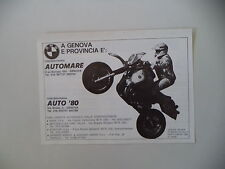 advertising Pubblicità 1984 GASTON RAHIER e BMW R 80 GS G/S PARIS DAKAR