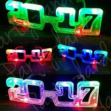 12 New Year 2017 Light Up Glasses Blinking Party