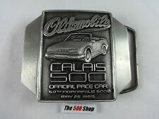 1985 Indianapolis 500 Belt Buckle 281 of 500 Pewter Danny Sullivan Spin and Win