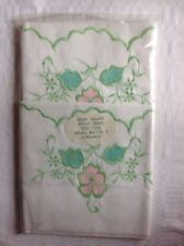 Vintage Pair Of Pillow Cases EMPIRE MADE embroidered