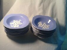"Harker Pottery Cameoware 5 1/4"". Square Bowls Dainty Blue Flower - 16 Available"