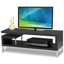 Modern TV Stand LCD Plasma Entertainment Center Media Stand Black