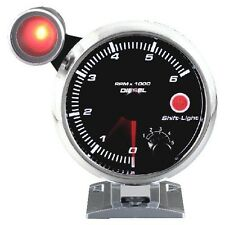 95mm 3 3/4 inches Tachometer 0-6000 RPM with outside shift light for Diesel