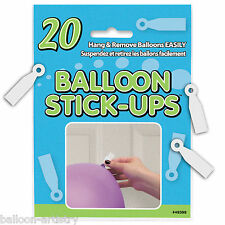 20 Hanging Balloon Stick Ups Ceiling Wall Stickers Birthday Party Decorations