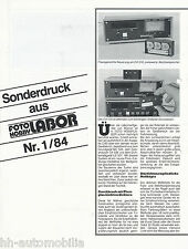 Sonderdruck Foto Hobby Labor 1/84 Wallner CA 516 MC 505 LD 517 reprint 1984