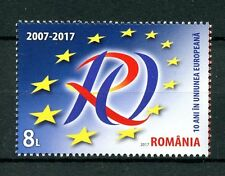 Romania 2017 MNH 10 Years in EU European Union 1v Set Politics Stamps