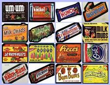 WACKY PACKAGES CANDY  16 PHOTO FRIDGE MAGNETS