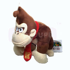 "Sanei Super Mario Stuffed Animal Plush Doll Toy- 9"" Donkey Kong Japan"