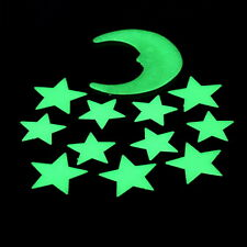 Stars Moon Glow In The Dark Fluorescent Decal Wall Stickers Home Decoration LU