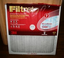 LOT 4 NEW 3M Filtrete Micro Allergen Reduction Air Cleaning Filters 20 x 20 x 1
