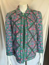 Vtg Suttles & Seawinds Lmt Reversible Floral Roses Jacket Medium Mint