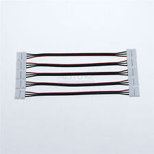 5pc 3PIN 10mm Cable Wire Connector 4 WS2811 WS2812B SK6812 5050 RGB LED Strip -D