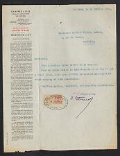"""LE MANS (72) USINE de ANTOIGNE / POELES & POIDS à peser """"CHAPPEE"""" en 1920"""