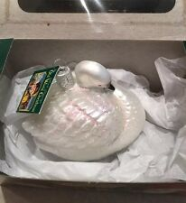 Old World Christmas Trumpeter Swan Ornament #16049 New in Box