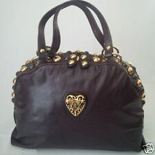 *MINT* GUCCI LEATHER BABOUSKA DOME SATCHEL STUDS HANDBAG BROWN MADE IN ITALY