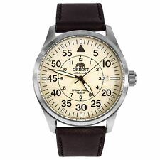 Orient ER2A005Y Men's Beige Dial Brown Strap Automatic Date Watch