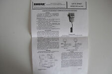 SHURE 401A/B (DATA SHEET ONLY)...........RADIO_TRADER_IRELAND.