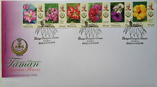 Malaysia FDC with stamps (21.03.2016) - Definitive Series - Perak Garden Flowers