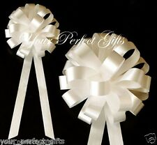 "20 IVORY WEDDING 8"" PULL BOW PEW BRIDAL CAKE DECORATION"