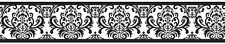 Sweet Jojo Damask Black White Isabella Baby Kid Wall Paper Border Wallcovering