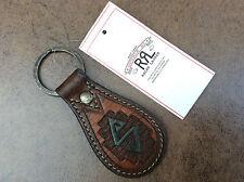 Rrl Ralph Lauren porte-clés en cuir marron / fob Bnwt