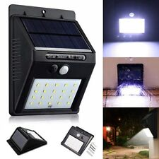 20 LED Solar Power PIR Motion Sensor Wall Lights Outdoor Garden Security Lamp