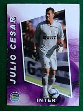 FOOTBALL CARDS REAL ACTION 2008-09 n.11 INTER JULIO CESAR , Figurina Panini NEW