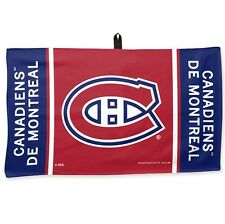 "MONTREAL CANADIENS WAFFLE GOLF TOWEL 14""X24"" BRAND NEW FREE SHIPPING WINCRAFT"
