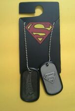 Official Superman Man Of Steel Logo Dog Tags Ball Neck Chain Necklace DC Comics