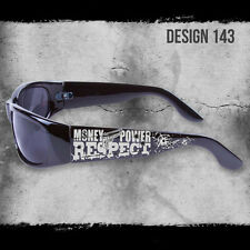 MONEY POWER RESPECT SHADES BLACK SUNGLASSES CHOPPERS CITY LOCS CHICANO RAP NWT