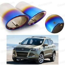Car Exhaust Muffler Tip Tail Pipe Trim Blue for Ford Kuga Escape 2013-2016 #4041