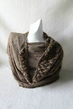 Grey Lace Scarf with Soft Triangle Design