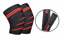 Knee Wraps Pro Weight Lifting Bandage Straps Guard Pads Sleeves Powerlifting Gym