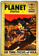 PLANET STORIES, pulp Fall, 1954 TIME-TECHS OF KRA, THE GEISHA MEMORY, HEX ON HAX
