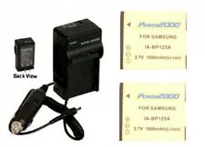 TWO Batteries +Charger for Samsung HMX-Q100 HMX-Q100BN HMX-Q100BN/XAA HMX-Q100TN