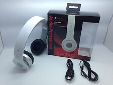 LOT OF 25 NEW BLUETOOTH STEREO HEADSET AT-BT802 OVER THE HEAD UNIVERSAL WHITE